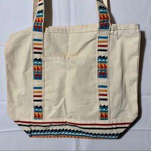 Aztec print small tote bag bohemian print boho